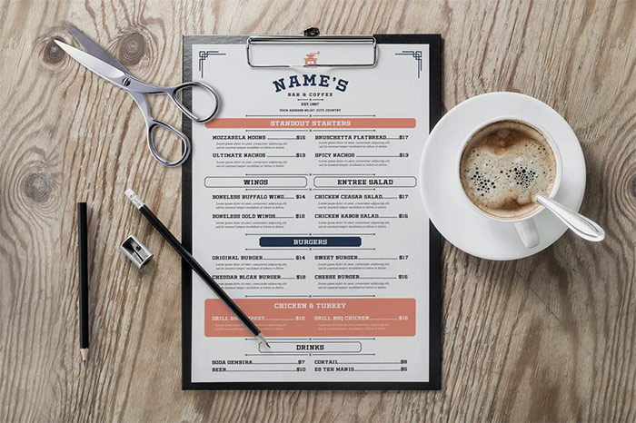 Simple Coffee Menu
