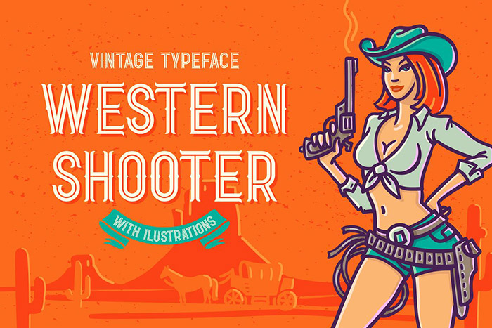 Western Shooter Font with Bonus