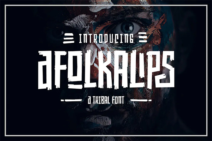 Afolkalips - tribal fonts