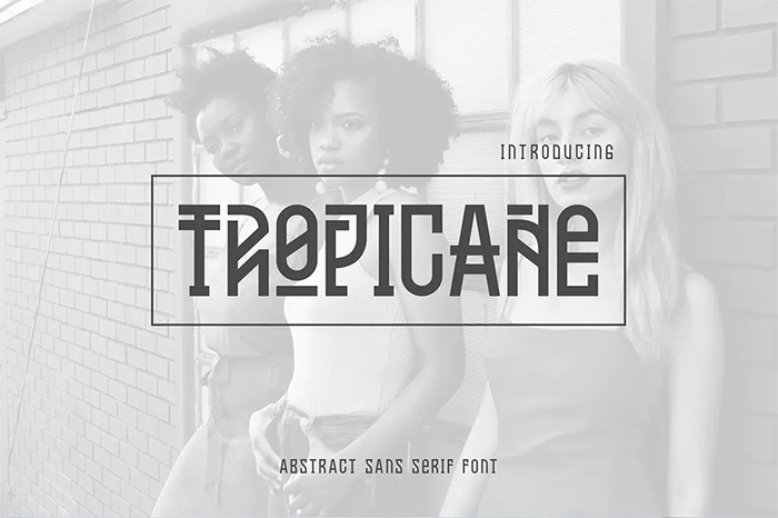 Tropicane Typeface - tribal fonts