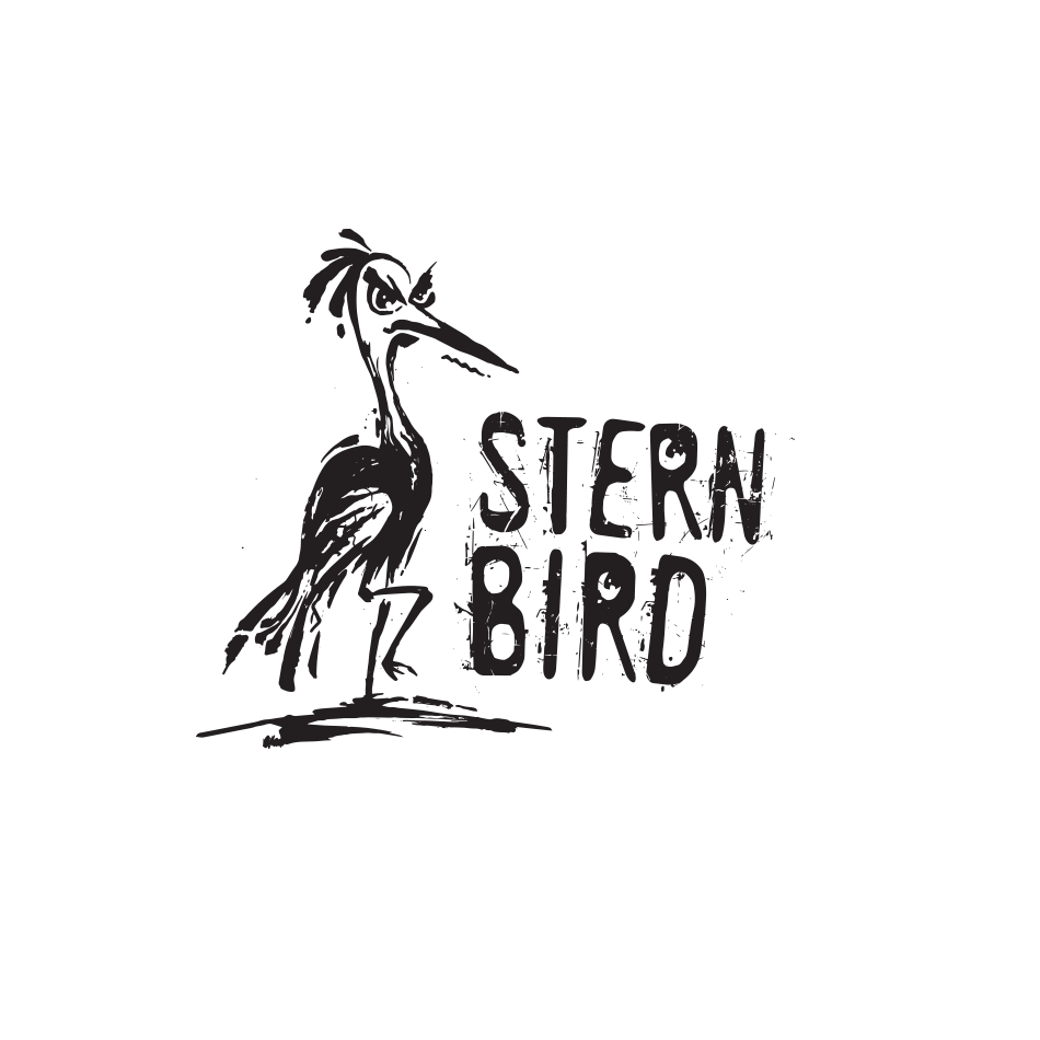 2012 logo design trends & complete logo maker: Ink-drawn-inspired image of an angry-looking bird
