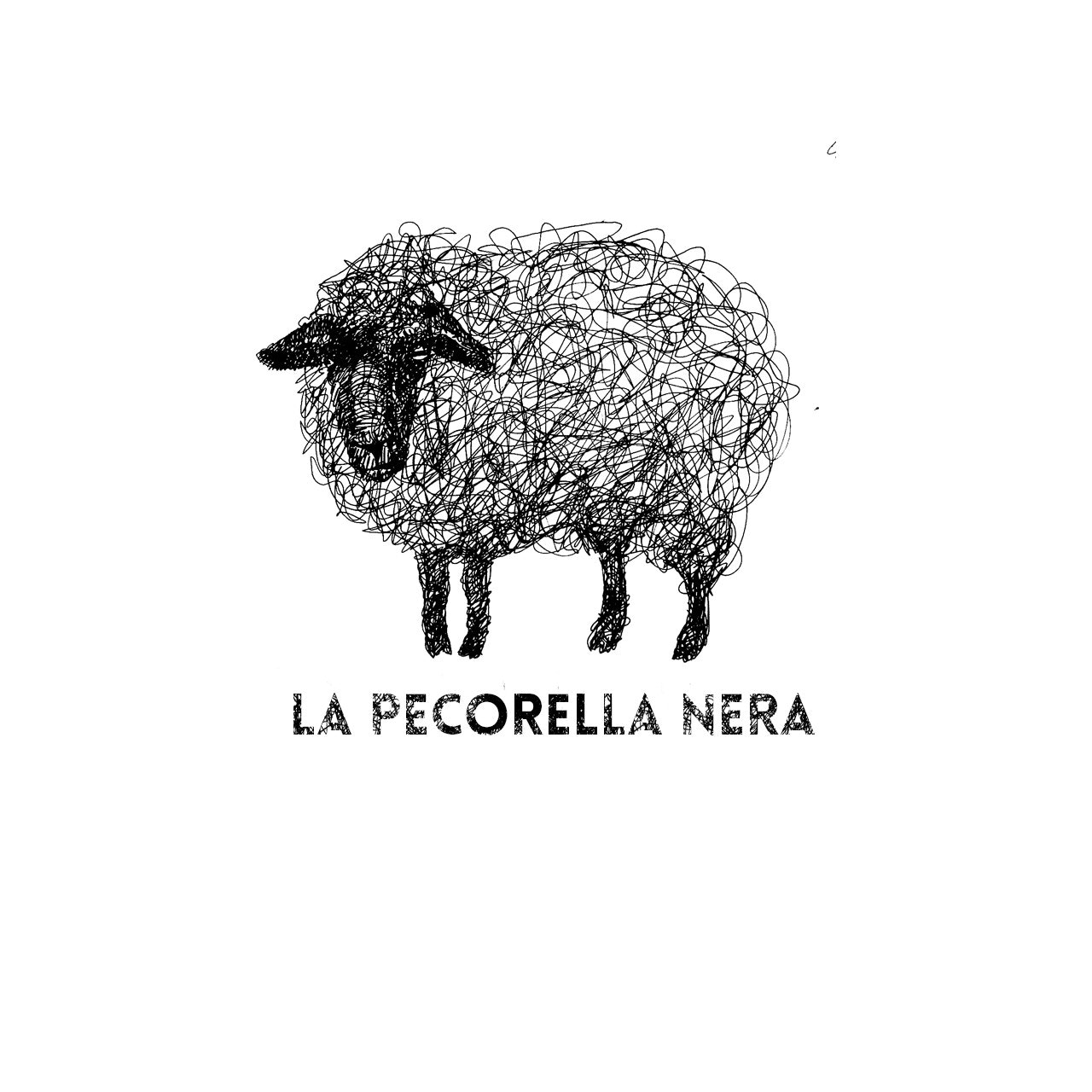 2012 logo design trends & complete logo maker: Logo of a sheep that looks like it was drawn in pen