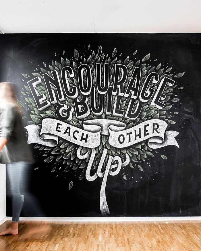 Encourage and build each other up