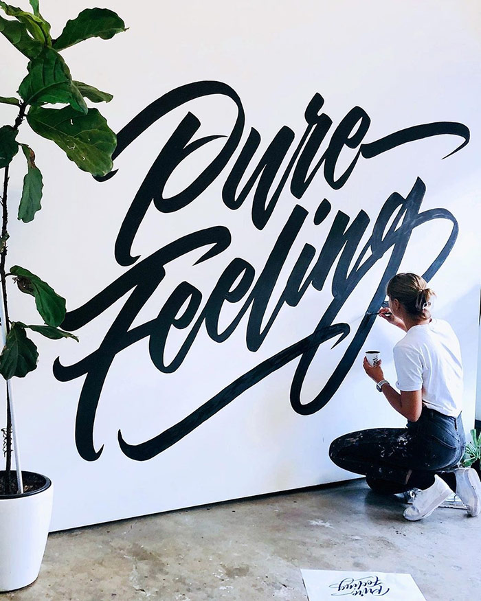 Pure Feeling - typography wall art