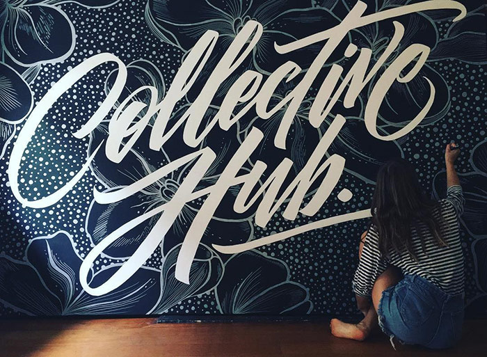 Collective Hub. - typography wall art