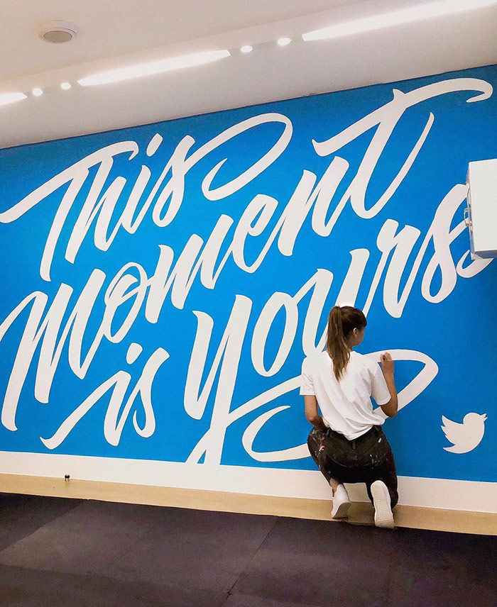 This moment is yours - typography wall art
