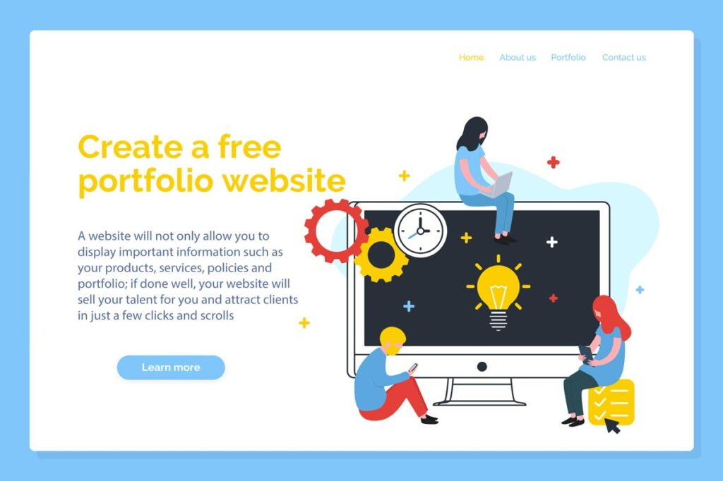 Create A Free Portfolio Website To Attract Customers