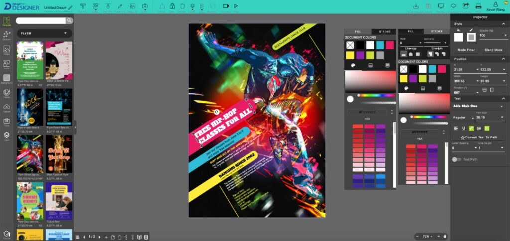 More friendly online graphic design software.