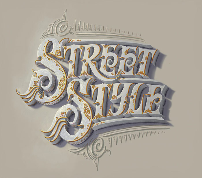 Street style - 3d typography