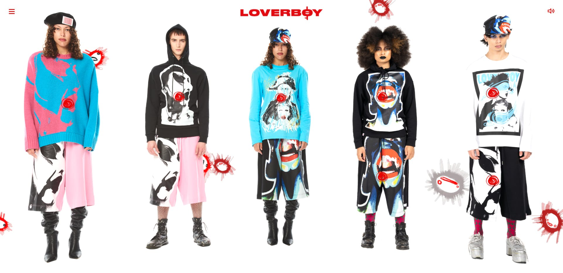 Charles Jeffrey Loverboy ecommerce