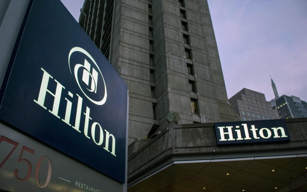 Hilton Hotel Outdoor Branded Signs