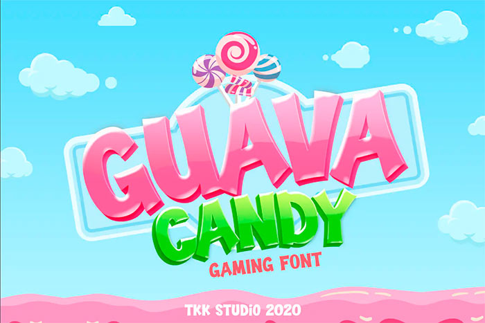 Guava Candy - Kids Gaming Font