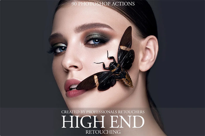 High End Retouching Photoshop Action