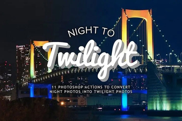 Photoshop Actions to Turn Night Photos into Twilight